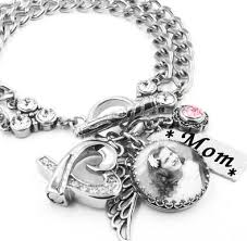 cremation jewelry bracelet memorial photo bracelet with cremation urn and charms in stainless
