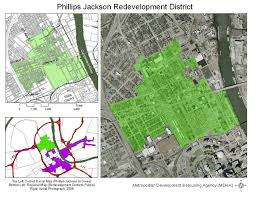 Map Of Nashville Tn Metropolitan Development And Housing Agency Redevelopment Districts