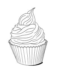 print u0026 download cupcakes coloring page