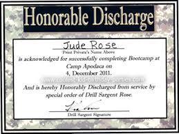 honorable discharge certificate coolest bootc 7th birthday party