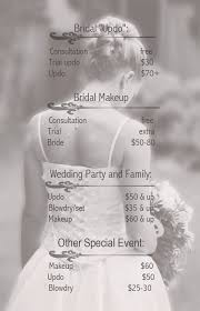 make up prices for wedding bridal hair and makeup prices makeupideas info