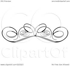 royalty free rf clipart illustration of an ornamental black and