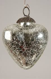 glass 3 ornament crackle finish silver southern blossoms