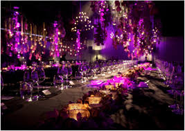 unique purple wedding reception decorations with image 16 of 18