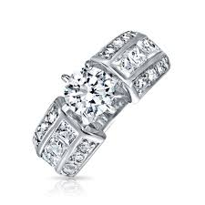 wide band engagement rings sterling silver cut cz wide band engagement ring