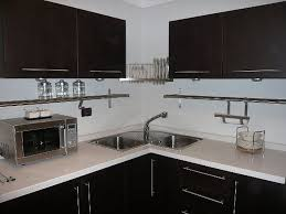 Black Oak Kitchen Cabinets Furniture Traditional Kitchen Design With Corian Countertop And