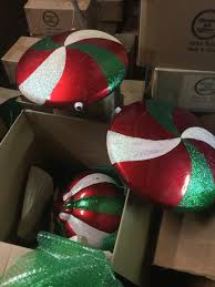 lot of 5 large commercial ornaments used 3 seasons