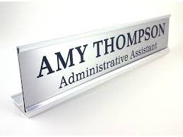 Personalized Desk Name Plates Personalized Desk Name Plate Nameplate Silver Look With Silver