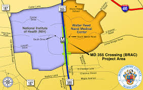 Nih Map Md 355 Crossing