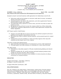 Senior Financial Analyst Resume Sample by Credit Research Analyst Cover Letter
