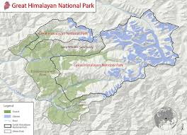Himilayas Map The Great Himalayan National Park Animals Tours Tiger Map
