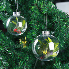 6 clear 80mm glass open front bauble ornaments ebay