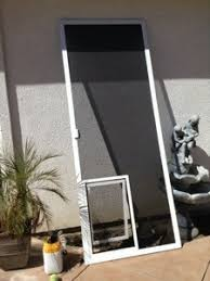Glass Door With Dog Door Built In by Screen Doors With Built In Pet Doors Installed In Simi Valley