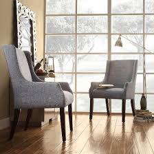 linen dining chair gardena sloped arm linen dining chair wood blue inspire q target
