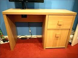 Small Oak Computer Desk Solid Oak Computer Desk Deskwood Cabinet Wood Student Compact