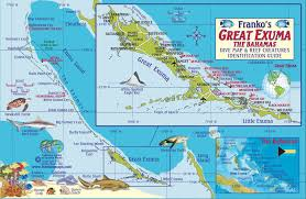 Coral Reefs Of The World Map by Great Exuma Bahamas Dive Map U0026 Reef Creatures Guide Franko Maps