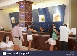 Reception Desk Miami Miami Florida Drive Marriott Hotel Front Desk
