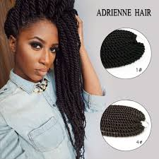 crochet black weave hair black brown blue purple bug colors hanava mambo twist hair