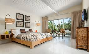 Midcentury Modern Bedding - mid century modern home in palm springs midcentury bedroom