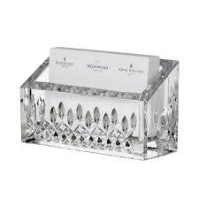 com waterford lismore essence desk collection business card holder home kitchen