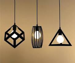 Metal Pendant Light Fixtures Hanging Cage Light Vintage Retro Pendant Lights L Metal Cube