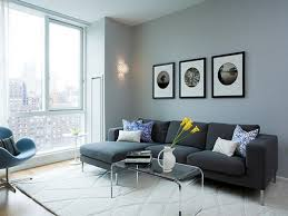 nice idea for gray living room theme with l shaped sofa and