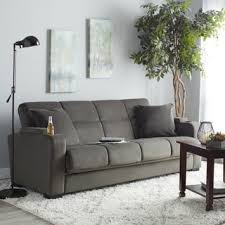 sofa sleeper handy living tevin grey velvet convert a futon sofa sleeper