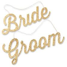 and groom chair signs gold glitter and groom chair signs target