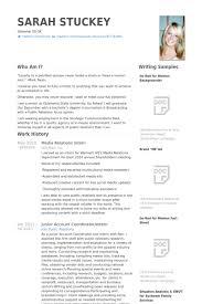Intern Resume Sample by Media Relations Intern Resume Samples Visualcv Resume Samples
