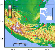 Central America Physical Map by Guatemala Map