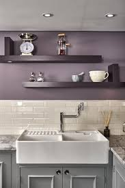 what wall color looks with grey cabinets farrow on purple kitchen walls kitchen