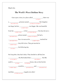 baby mad libs lib the world s worst bedtime story