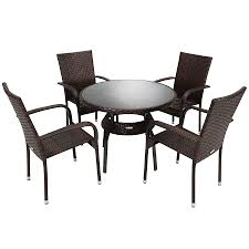 Bali Rattan Garden Furniture by Charles Bentley Garden Rattan Dining Set Table And 4 Armchairs