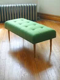 items similar to modern bench in knoll upholstery green on etsy
