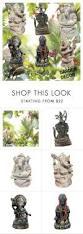 garden decor stone statue yoga gift idea