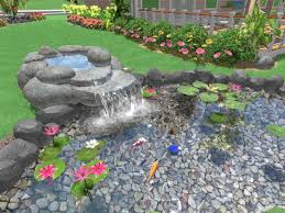 Best Landscaping Software by New Landscaping Software Improved Pond Fountain And Waterfall