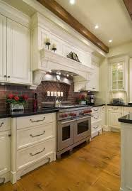 backsplash for kitchen with white cabinet kitchen brick backsplashes for warm and inviting cooking areas
