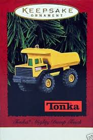 Ornaments For Trucks Hallmark Keepsake Tonka Mighty Dump Truck 1996