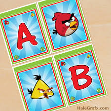 printable angry birds alphabet banner pack