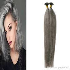 pre bonded hair extensions extension grey cheratina keratin hair extension u tip 100s silver
