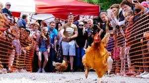 village hen racing event like a u0027monty python sketch u0027 bbc news
