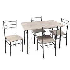 sedie per cucina in legno set tavolo e 4 sedie per cucina living in metallo e piani in legno