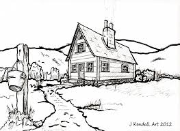 house drawings country house line drawing by j kendall on deviantart