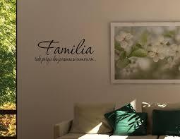 amazon com spanish vinyl wall quotes espanol familia todo porque