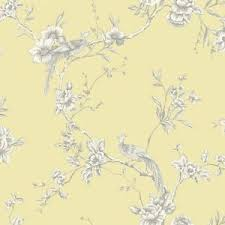 wallpaper with birds arthouse chinoise yellow wallpaper floral birds heavyweight