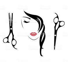 barber tools and haircut icons for women stock vector art