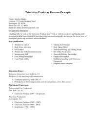 show resume examples television producer resume sample http resumesdesign com television producer resume sample will give ideas and provide as references your own resume there are so many kinds inside the web of resume sample for