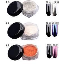 amazon com saideng 12 colors mirror powder pigment nail glitter