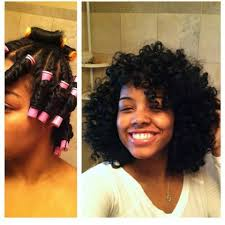 Black Natural Curly Hairstyles For Medium Length Hair Twist N Curl With Perm Rods Gorgeous Http Blackhair Cc
