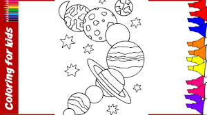 planet coloring pages learn planet colors video coloring